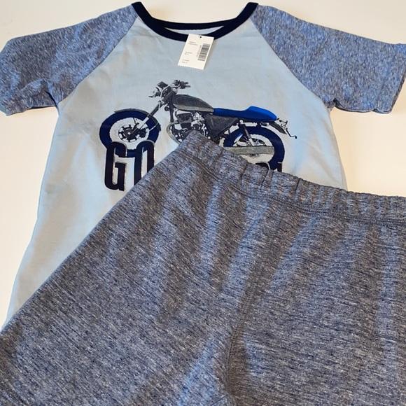 2pc Matching Set boys 4T shorts tshirt motorcycle